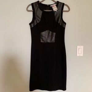 Yoana Baraschi Leather Inset Black Dress EUC 6